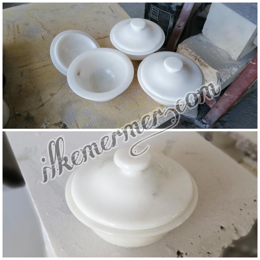 Mermer kase ve sunum tabağı